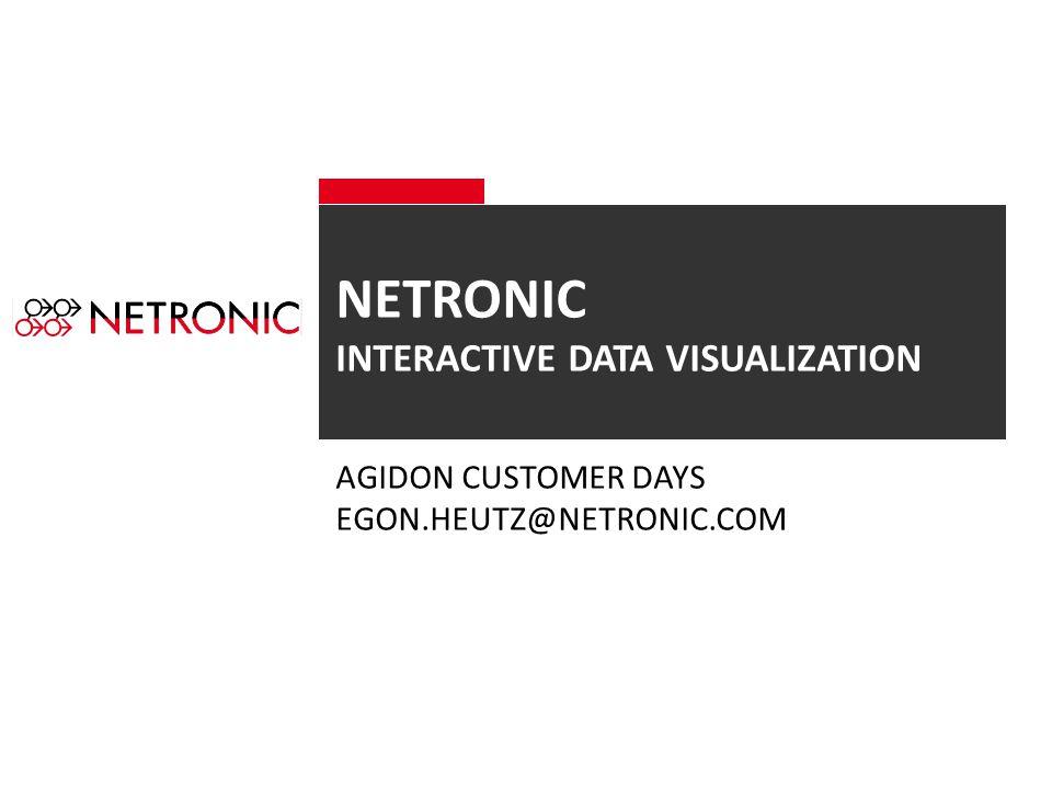 NETRONIC INTERACTIVE DATA VISUALIZATION AGIDON CUSTOMER DAYS EGON.HEUTZ@NETRONIC.COM