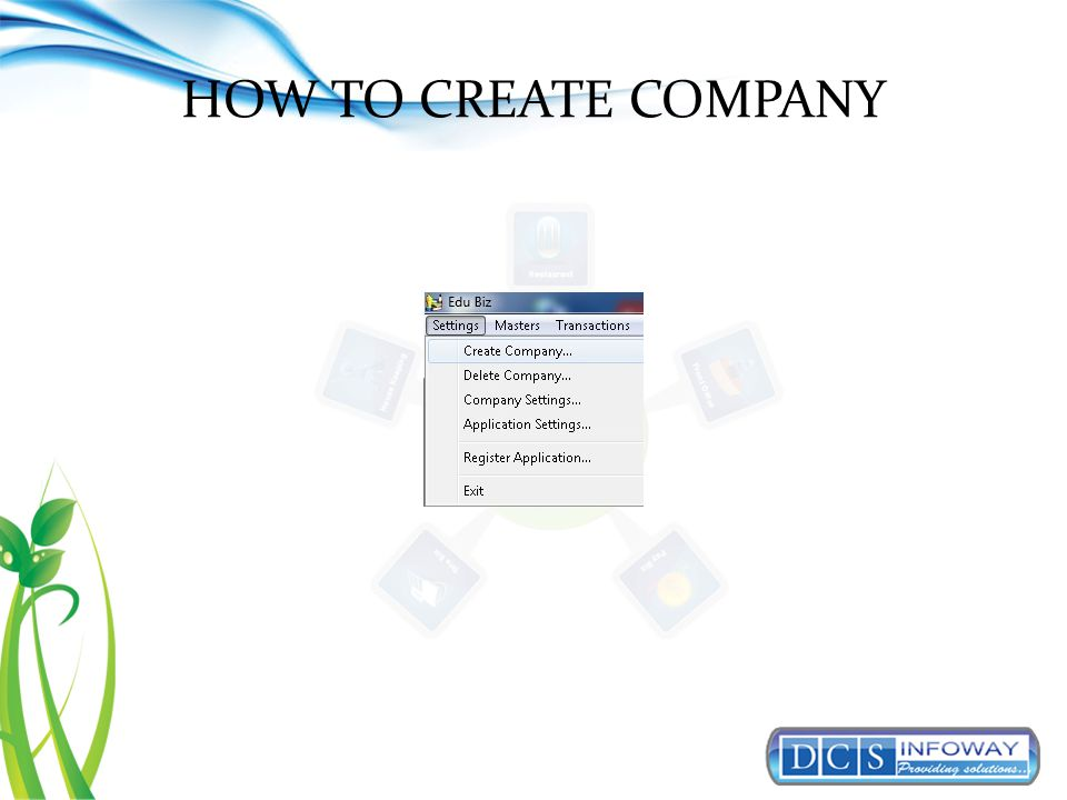 HOW TO CREATE COMPANY