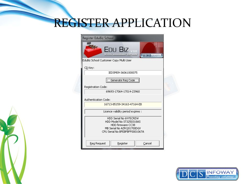 REGISTER APPLICATION