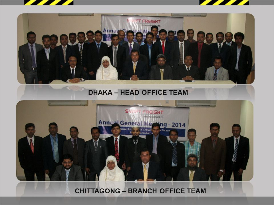 DHAKA – HEAD OFFICE TEAM CHITTAGONG – BRANCH OFFICE TEAM