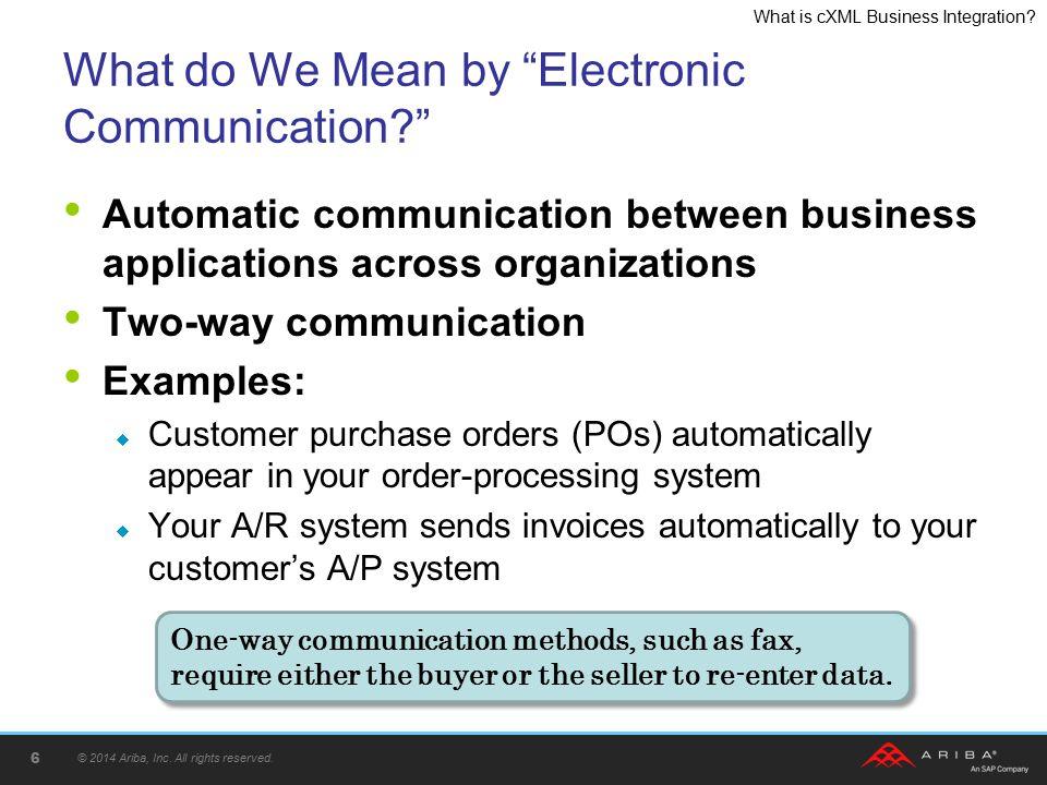 What is cXML Business Integration.Ariba Ready Programs © 2014 Ariba, Inc.
