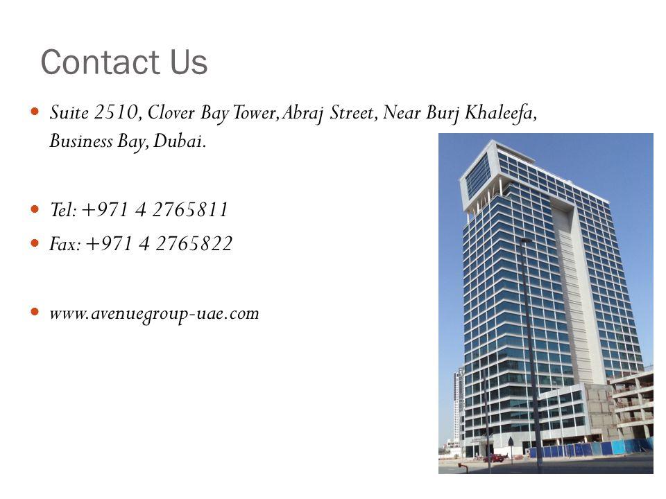 Contact Us Suite 2510, Clover Bay Tower, Abraj Street, Near Burj Khaleefa, Business Bay, Dubai.