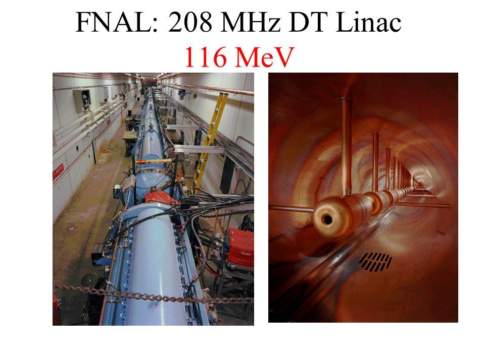 FNAL: 208 MHz DT Linac 116 MeV