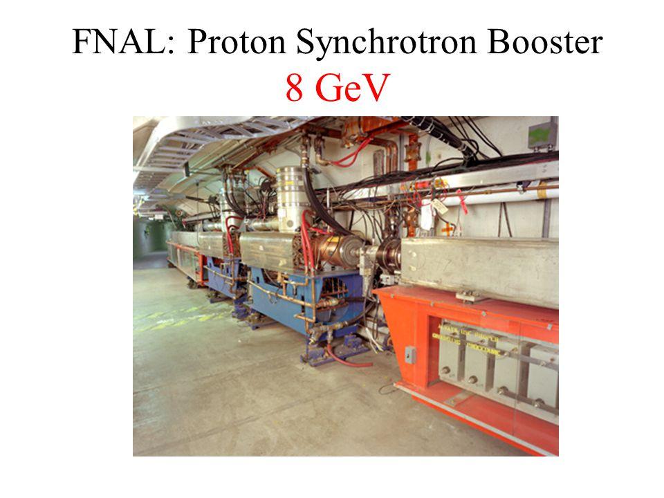 FNAL: Proton Synchrotron Booster 8 GeV