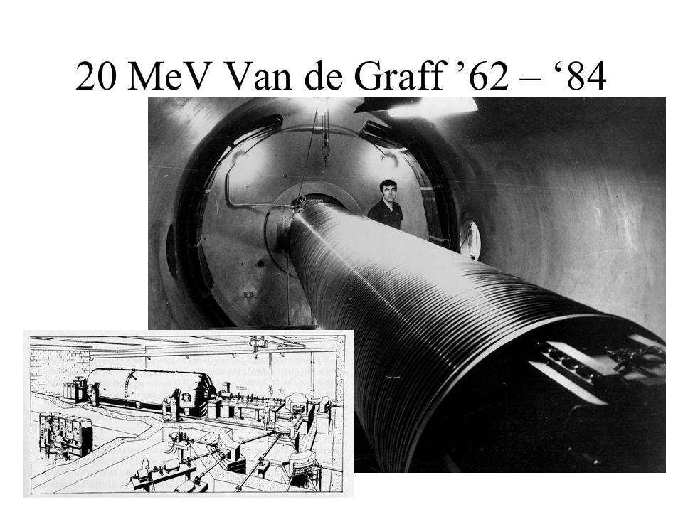 20 MeV Van de Graff '62 – '84