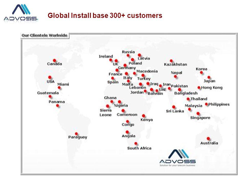 Global Install base 300+ customers