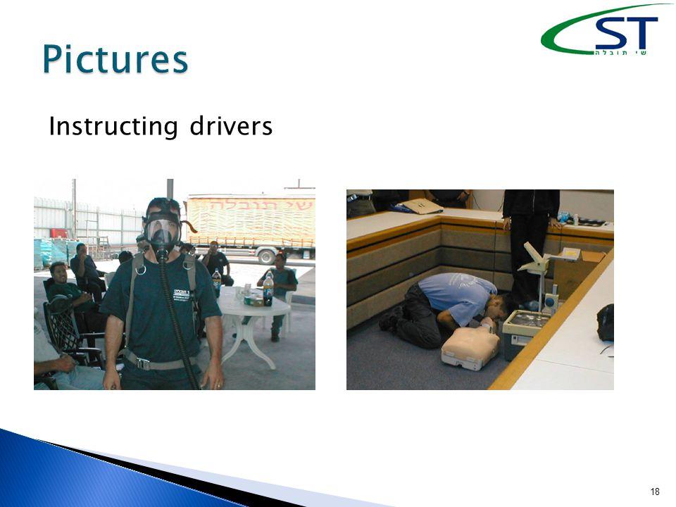 Instructing drivers 18