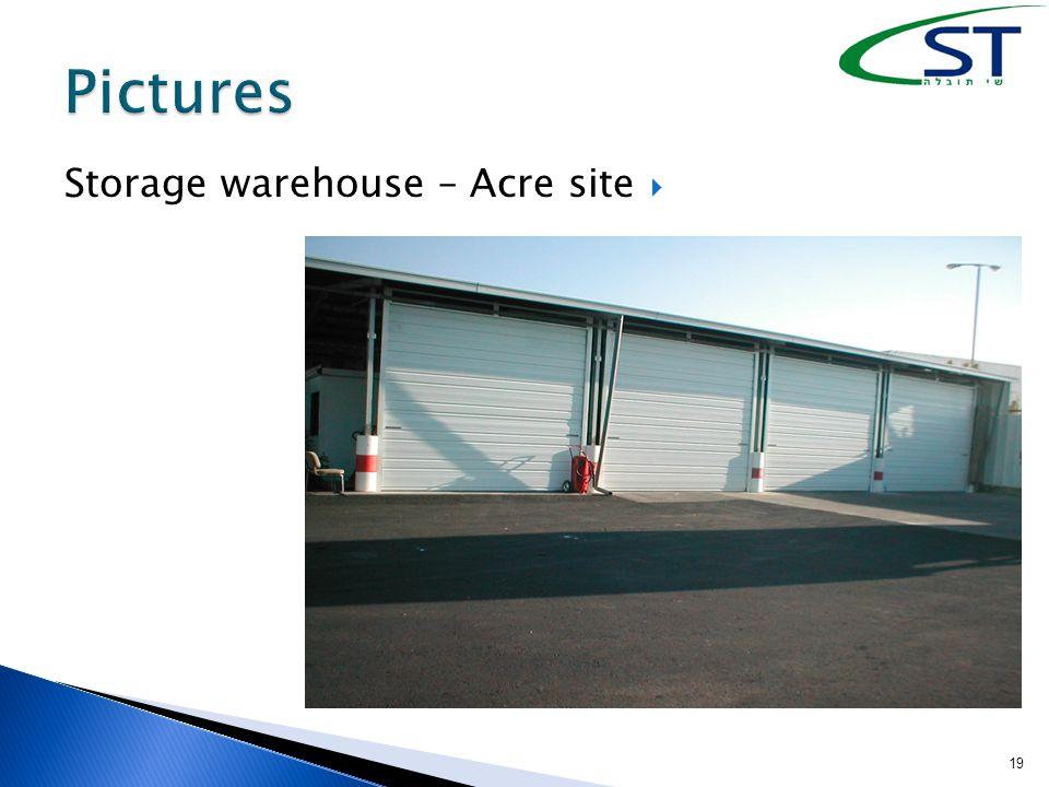 19  Storage warehouse – Acre site