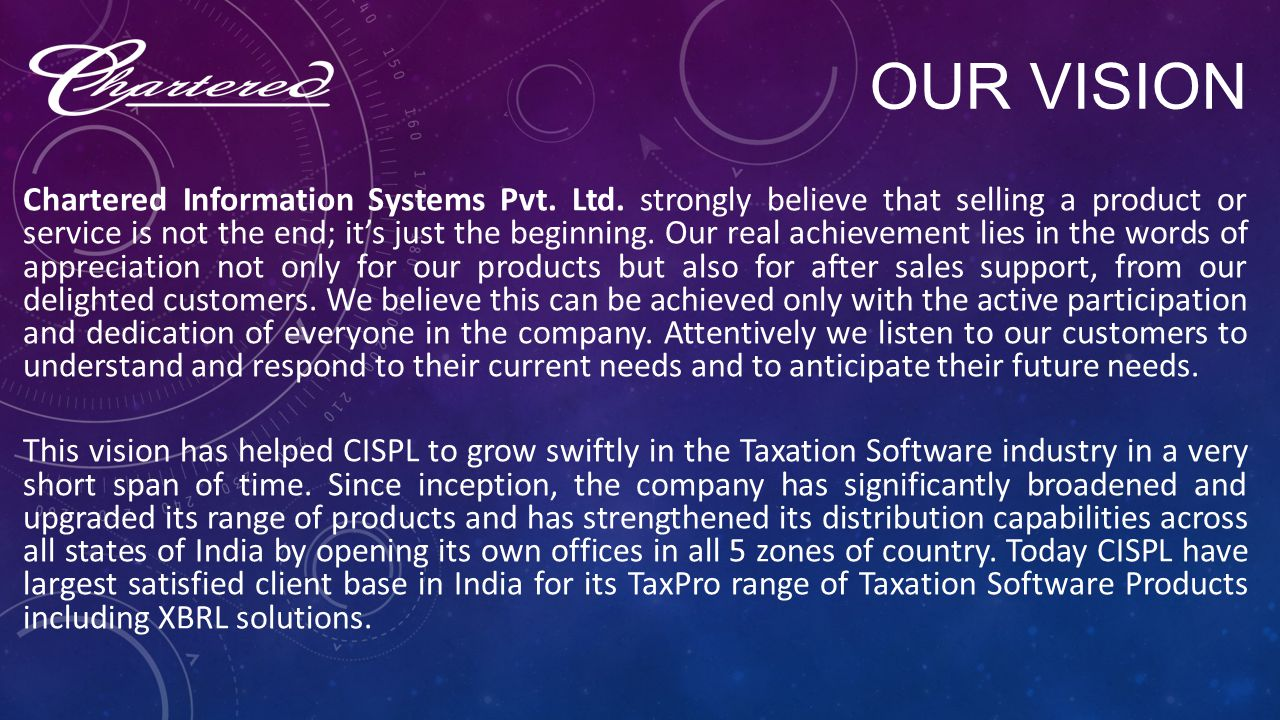 ABOUT US Chartered Information Systems Pvt. Ltd.