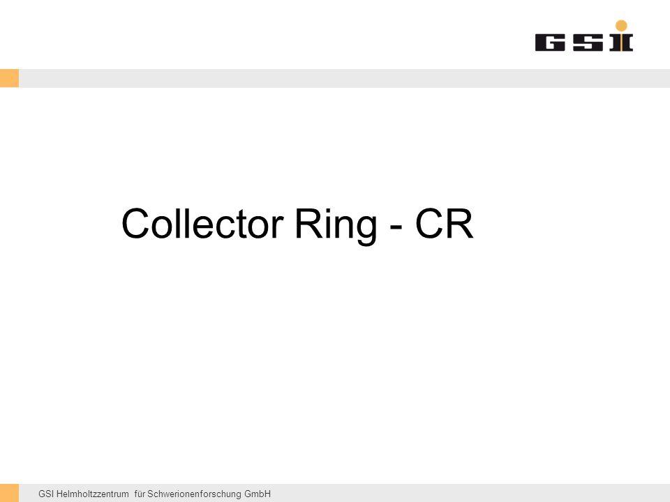 GSI Helmholtzzentrum für Schwerionenforschung GmbH Collector Ring - CR