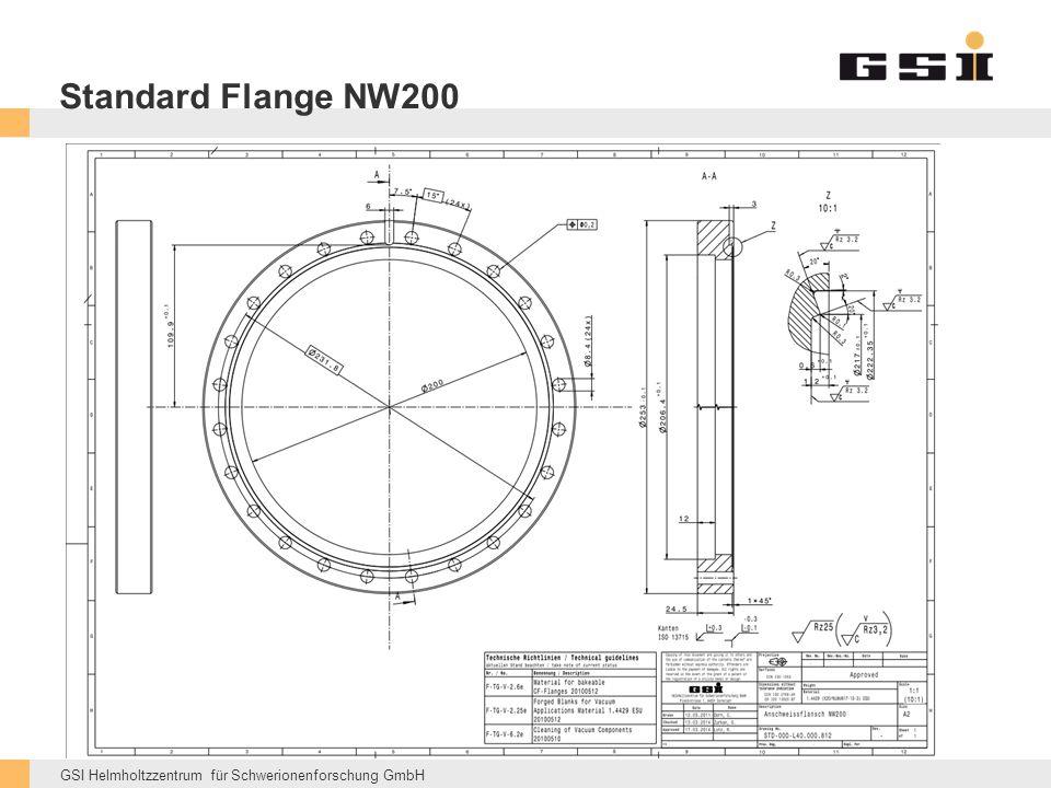 GSI Helmholtzzentrum für Schwerionenforschung GmbH Standard Flange NW200