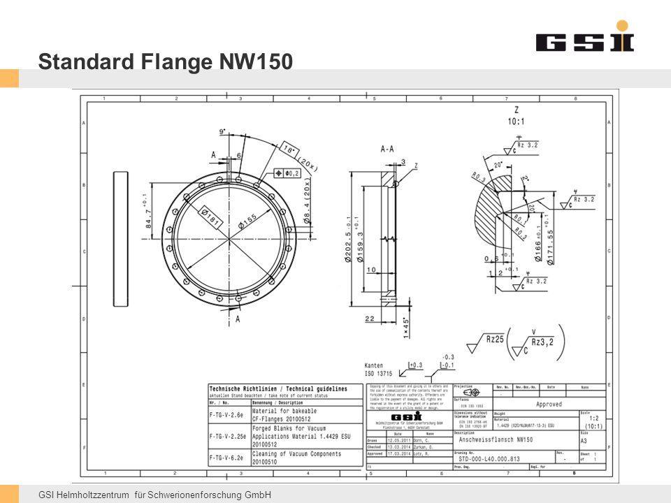 GSI Helmholtzzentrum für Schwerionenforschung GmbH Standard Flange NW150