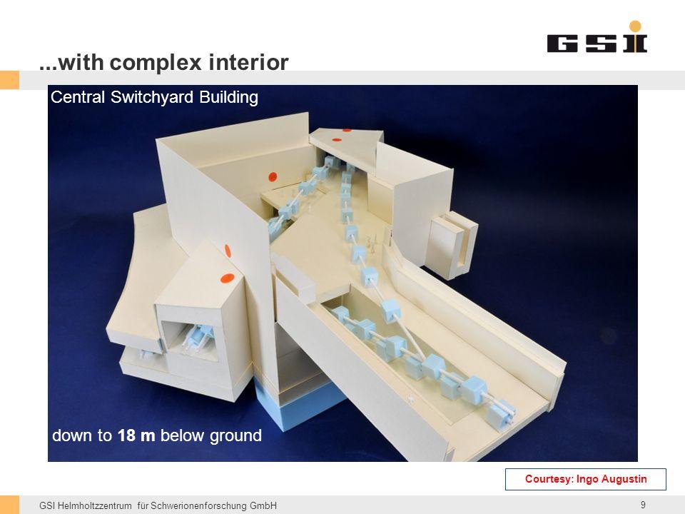 GSI Helmholtzzentrum für Schwerionenforschung GmbH down to 18 m below ground Central Switchyard Building...with complex interior 9 Courtesy: Ingo Augustin