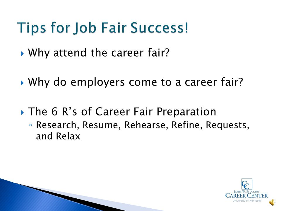  Why attend the career fair. Why do employers come to a career fair.