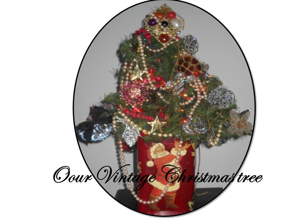 Oour Vintage Christmas tree