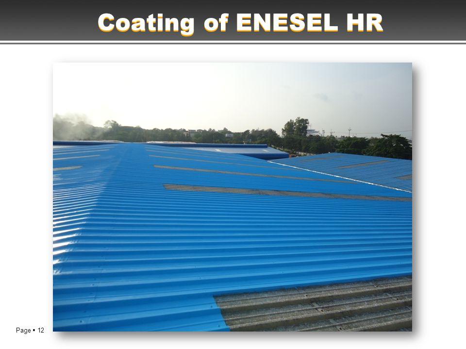 Page  12 Coating of ENESEL HR