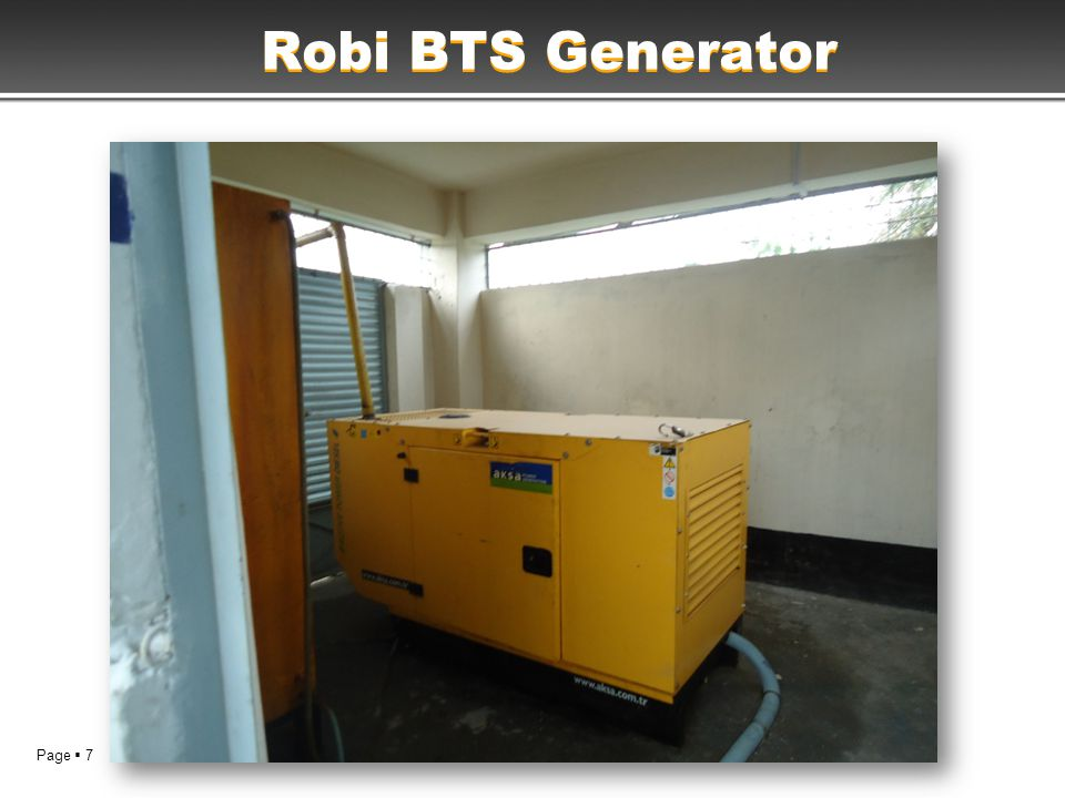 Page  7 Robi BTS Generator
