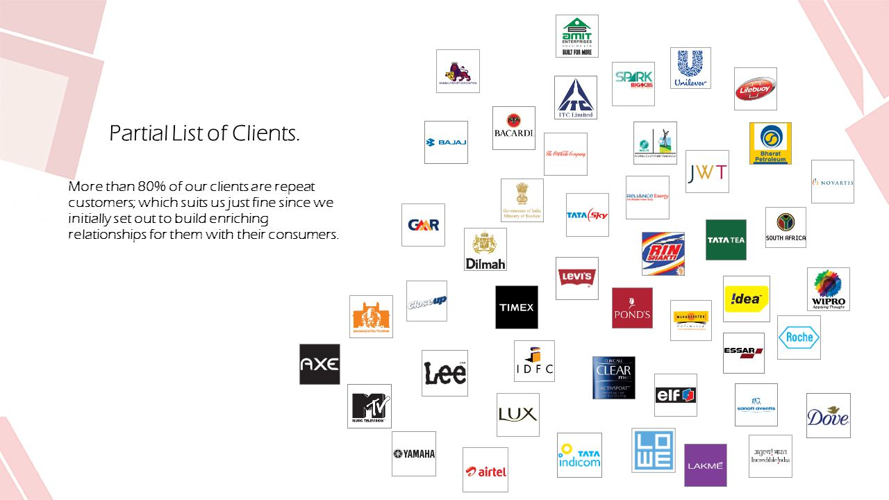Partial List of Clients.