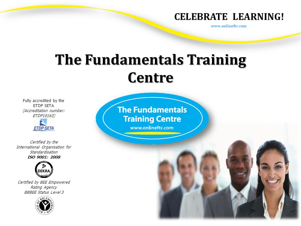 All our courses are customised to meet the client's needs, timeframes and budget.