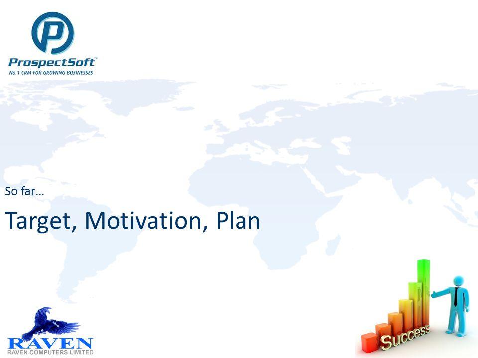 Target, Motivation, Plan So far…