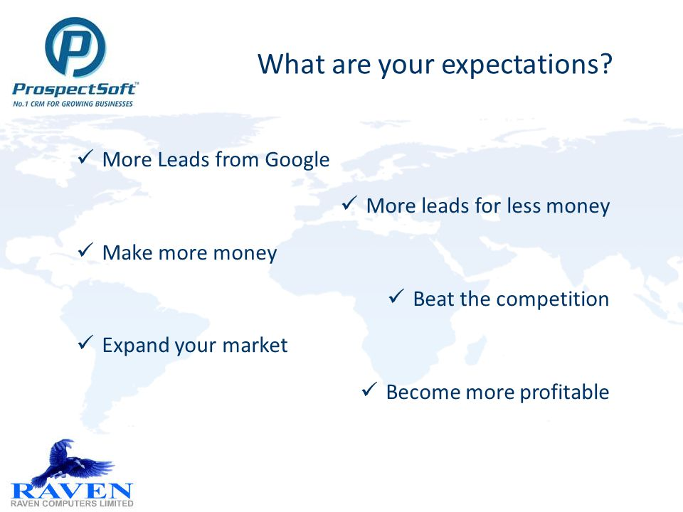 1.Get more hits 2.Grab more attention (avoid bounces) 3.Generate more registrations 4.Log and distribute leads 5.Ensure Lead follow-up 6.Progress & Close the sale 7.Re-Market for retention / respend 8.Analyse, Innovate, Analyse, Iterate, Orchestrate