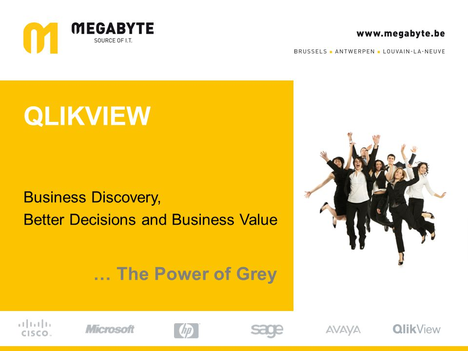 QLIKVIEW Business Discovery, Better Decisions and Business Value … The Power of Grey