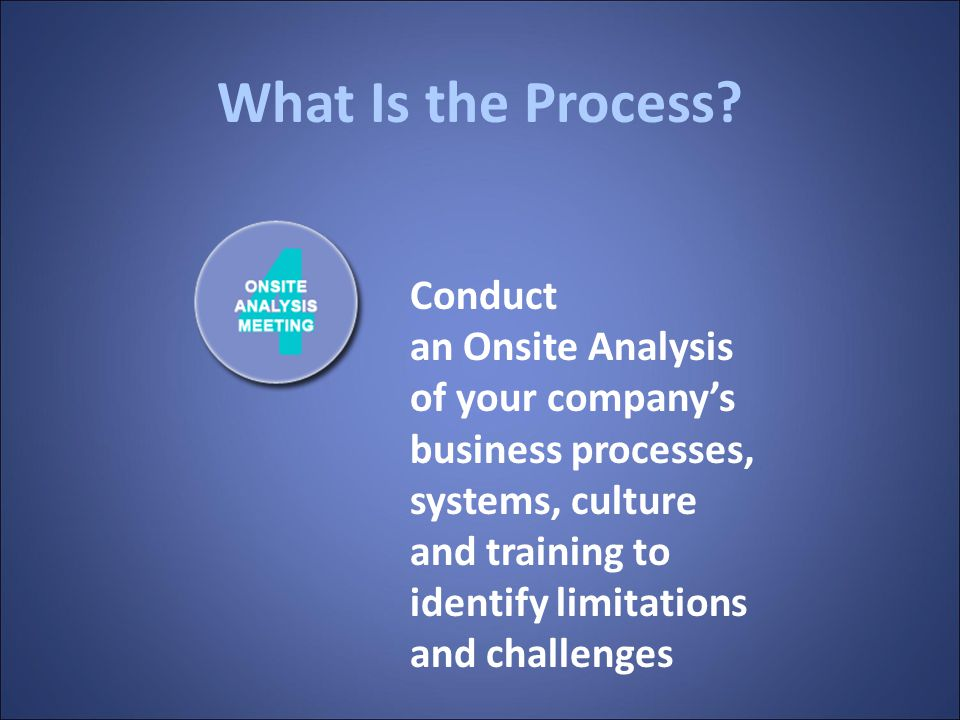 What Is the Process? Review your database configuration, level of automation, and data quality