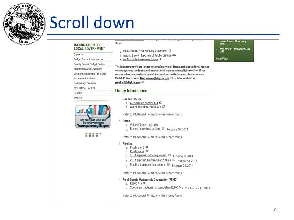 Scroll down 16