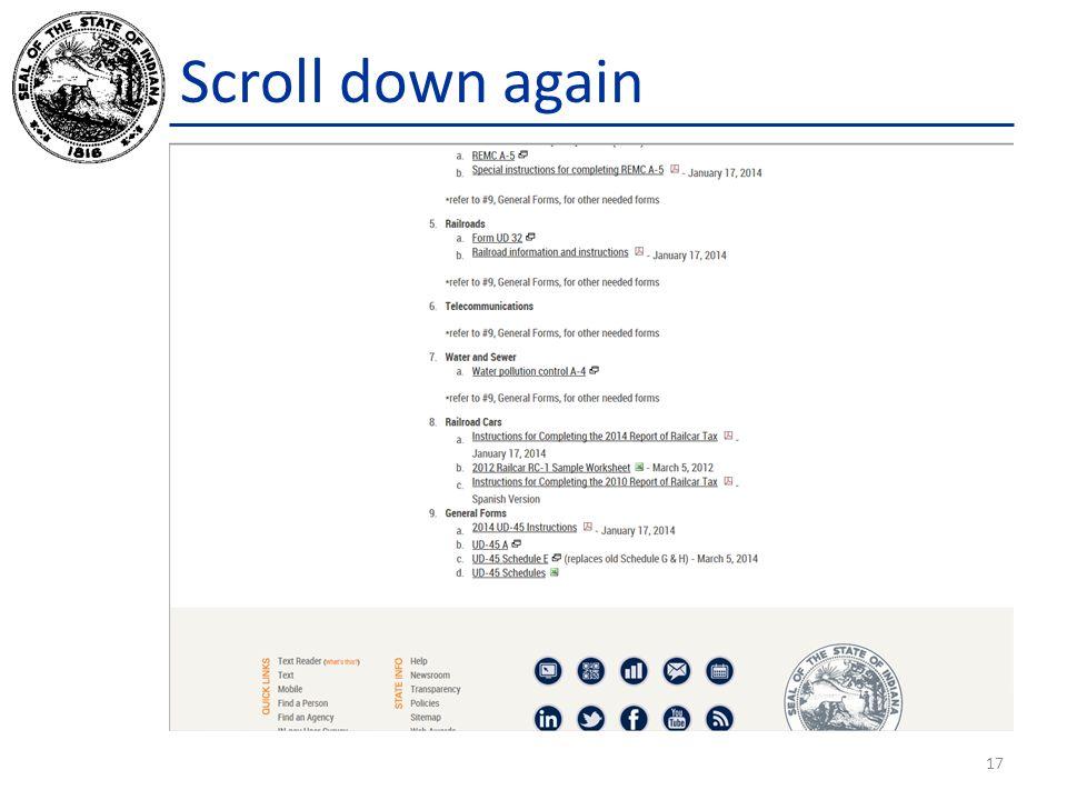 Scroll down again 17