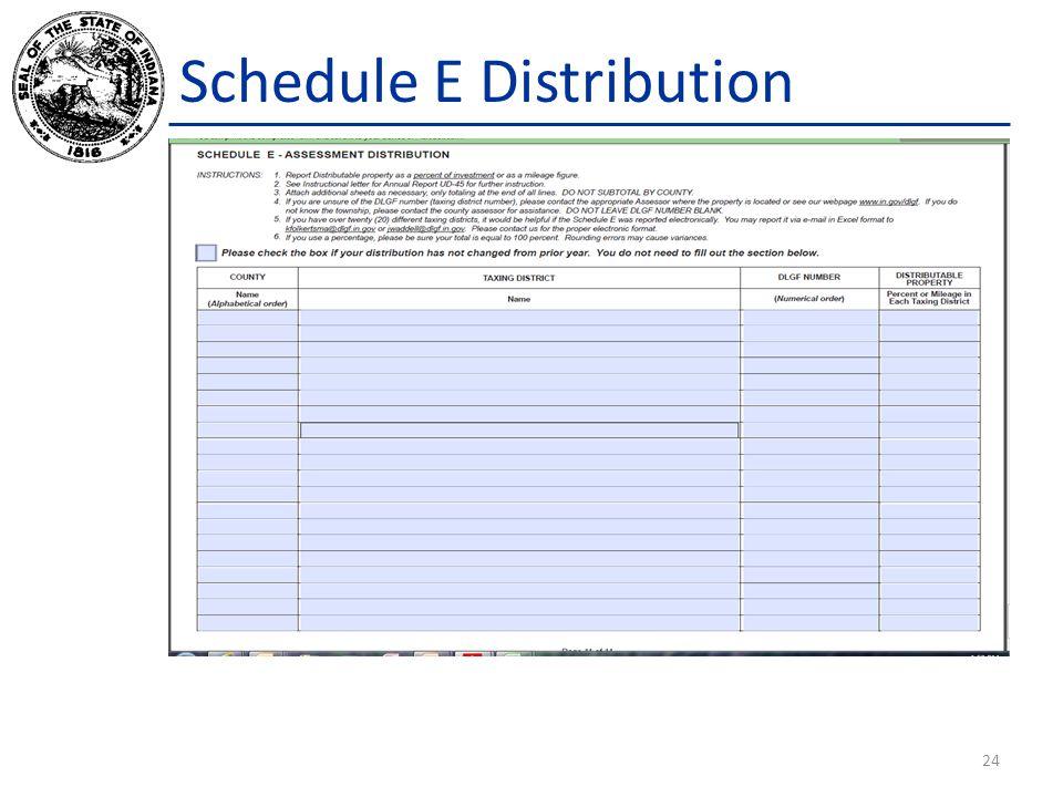 Schedule E Distribution 24