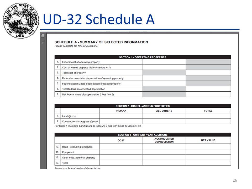 UD-32 Schedule A 26