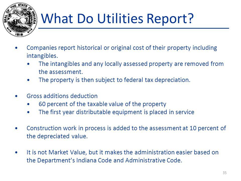 What Do Utilities Report.