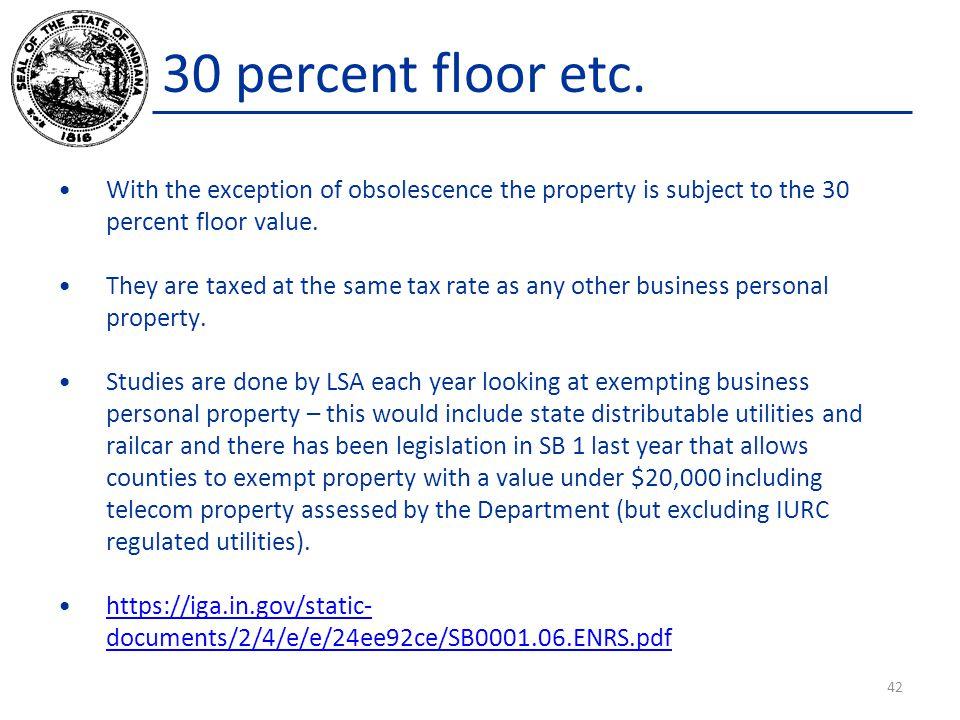 30 percent floor etc.