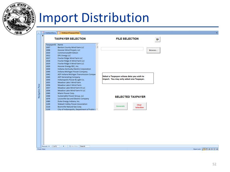 Import Distribution 52