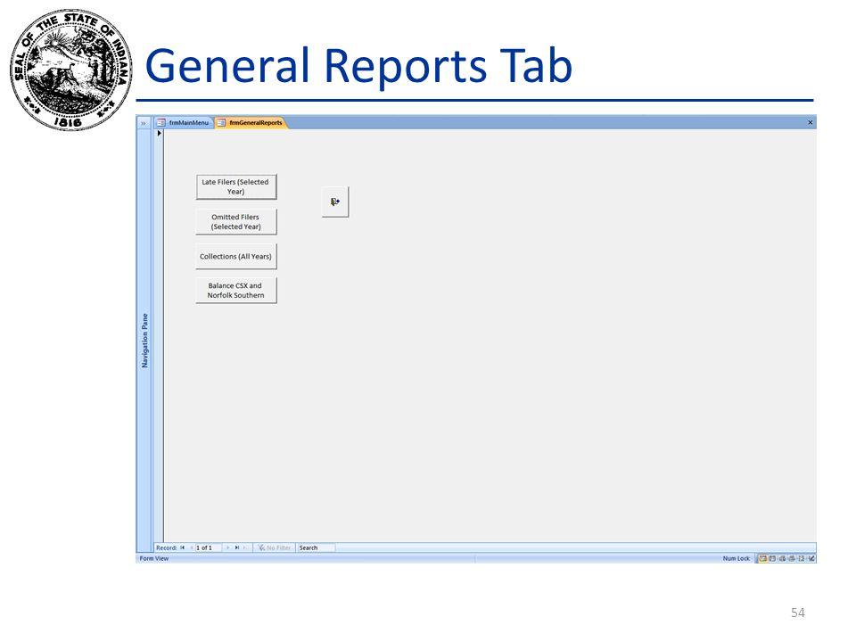 General Reports Tab 54