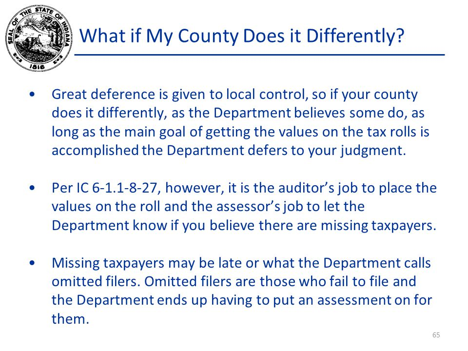 What if My County Does it Differently.