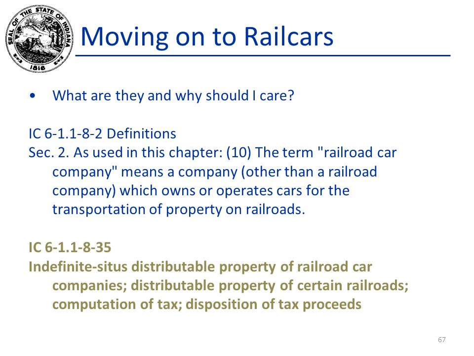 Moving on to Railcars What are they and why should I care.