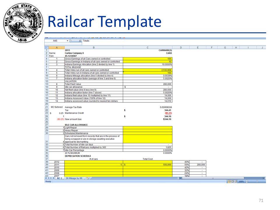 Railcar Template 71