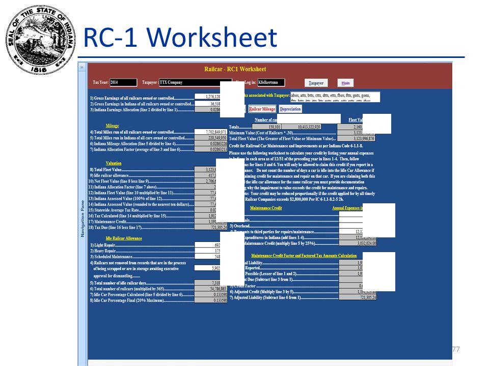 RC-1 Worksheet 77