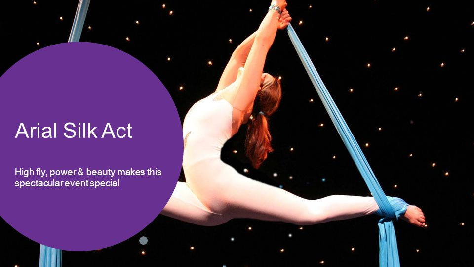 Arial Silk Act High fly, power & beauty makes this spectacular event special