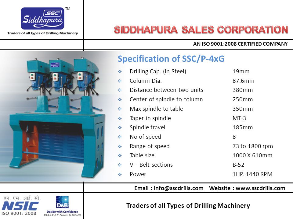Traders of all Types of Drilling Machinery AN ISO 9001:2008 CERTIFIED COMPANY TM  Drilling Cap.
