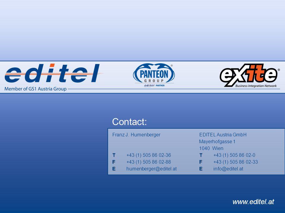 ©2011 EDITEL 17 EDITEL Austria GmbH Mayerhofgasse 1 1040 Wien T T+43 (1) 505 86 02-0 F F+43 (1) 505 86 02-33 E Einfo@editel.at Franz J.