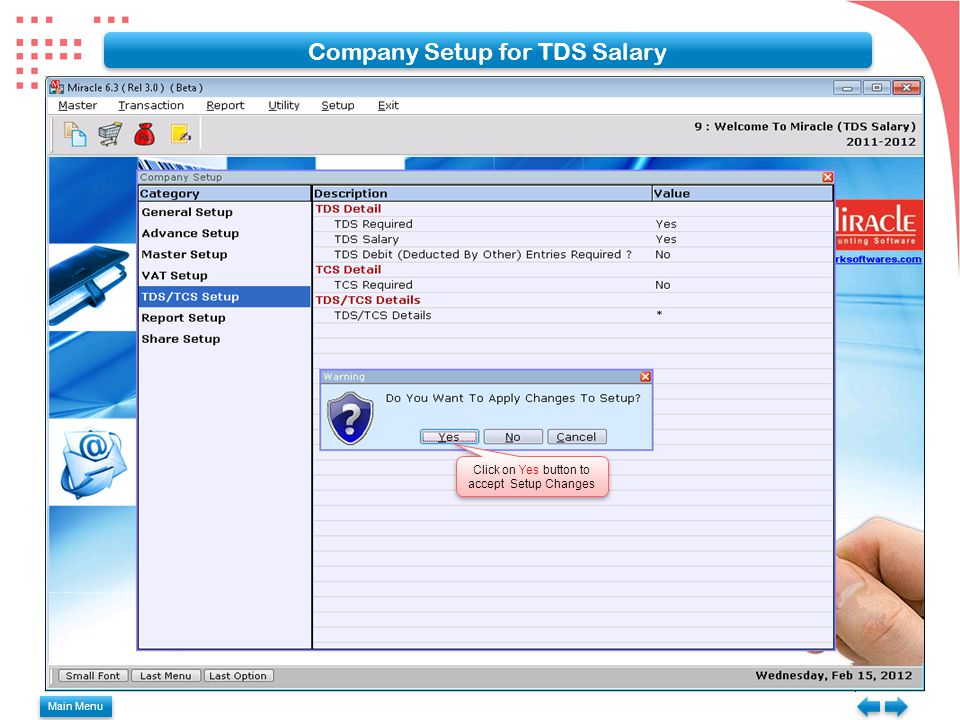 Passing Journal Entry with TDS Adjustment Click Add or press Insert key for passing journal entry Main Menu