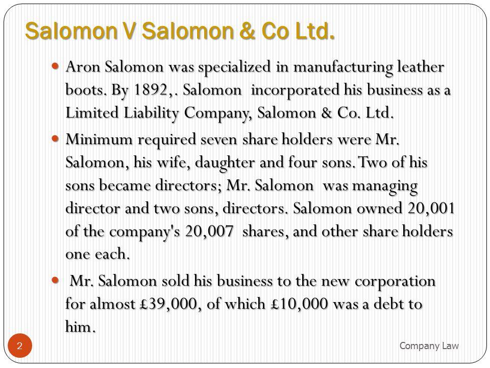 13 Characteristics of a Company.1. Separate Legal Entity Separate Legal Entity 2.