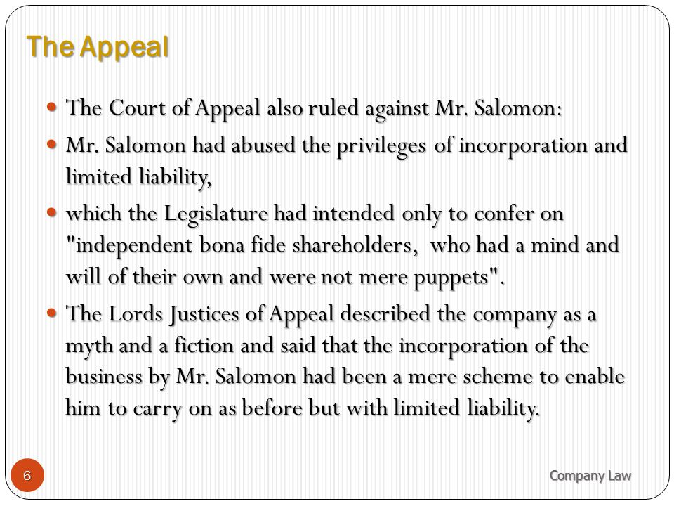The House of Lords held: The company was duly constituted in law.