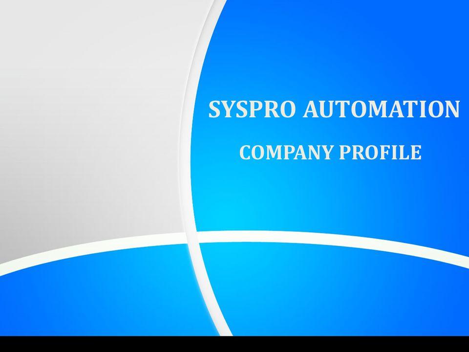 SYSPRO AUTOMATION COMPANY PROFILE