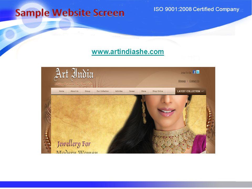 ISO 9001:2008 Certified Company www.artindiashe.com