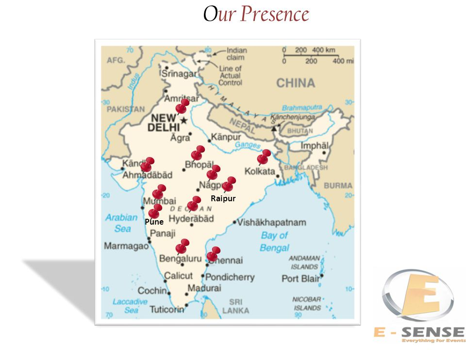 Our Presence Raipur Pune