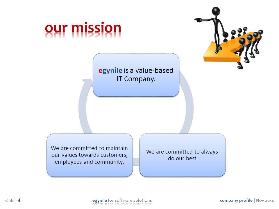 company profile | Nov 2014 slide | 5 Sincerity, Honesty, Honor and Incorruptibility.