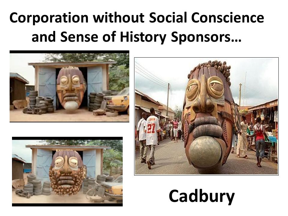 Corporation without Social Conscience and Sense of History Sponsors… Cadbury